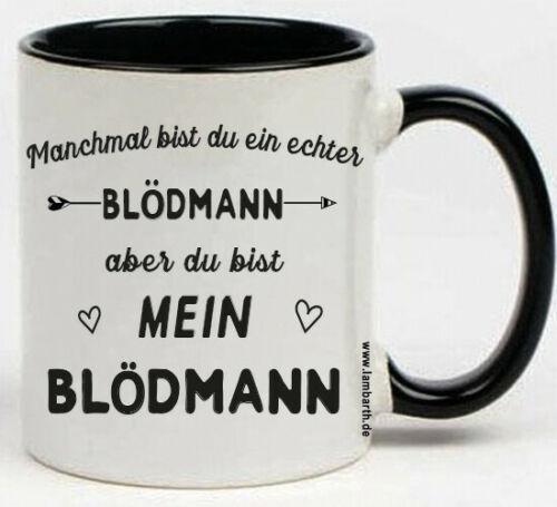 """mein ARSCH Keramik Tasse /"""" ein DEPP BLÖDMANN../"""" Geschenk Idee Kaffeebecher"""