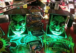 Medieval Madness Pinball Trolls light Mod GREEN Bally-Wms + MMR Royal Edition