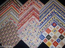 12x12 Scrapbook Paper 60 Primary 123 Red Blue Stack Wholesale Lot Recollections