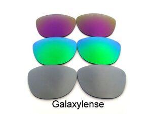 Galaxy-Lentes-De-Repuesto-Para-Oakley-Frogskins-titanium-amp-green-amp-purple