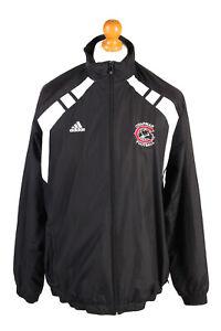 Adidas-para-hombre-Chandal-Top-Chapman-Futbol-Vintage-Forrado-Talla-M-Negro-SW2554