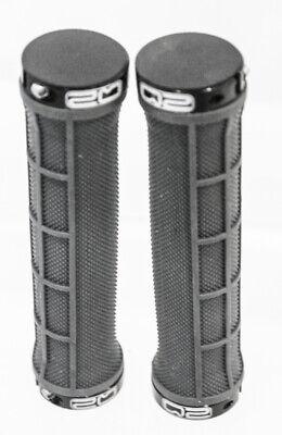 "Gray MTB BMX Hybrid Flat Bar Bike Grips 130mm 7//8/"" Black 22.2mm NEW"