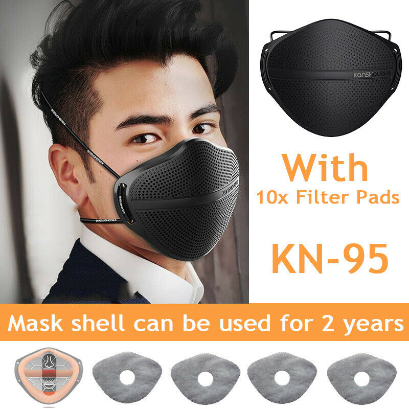 Mask Protected Reusable Nose Mouth Separate with Carbon Filter Purify Washable