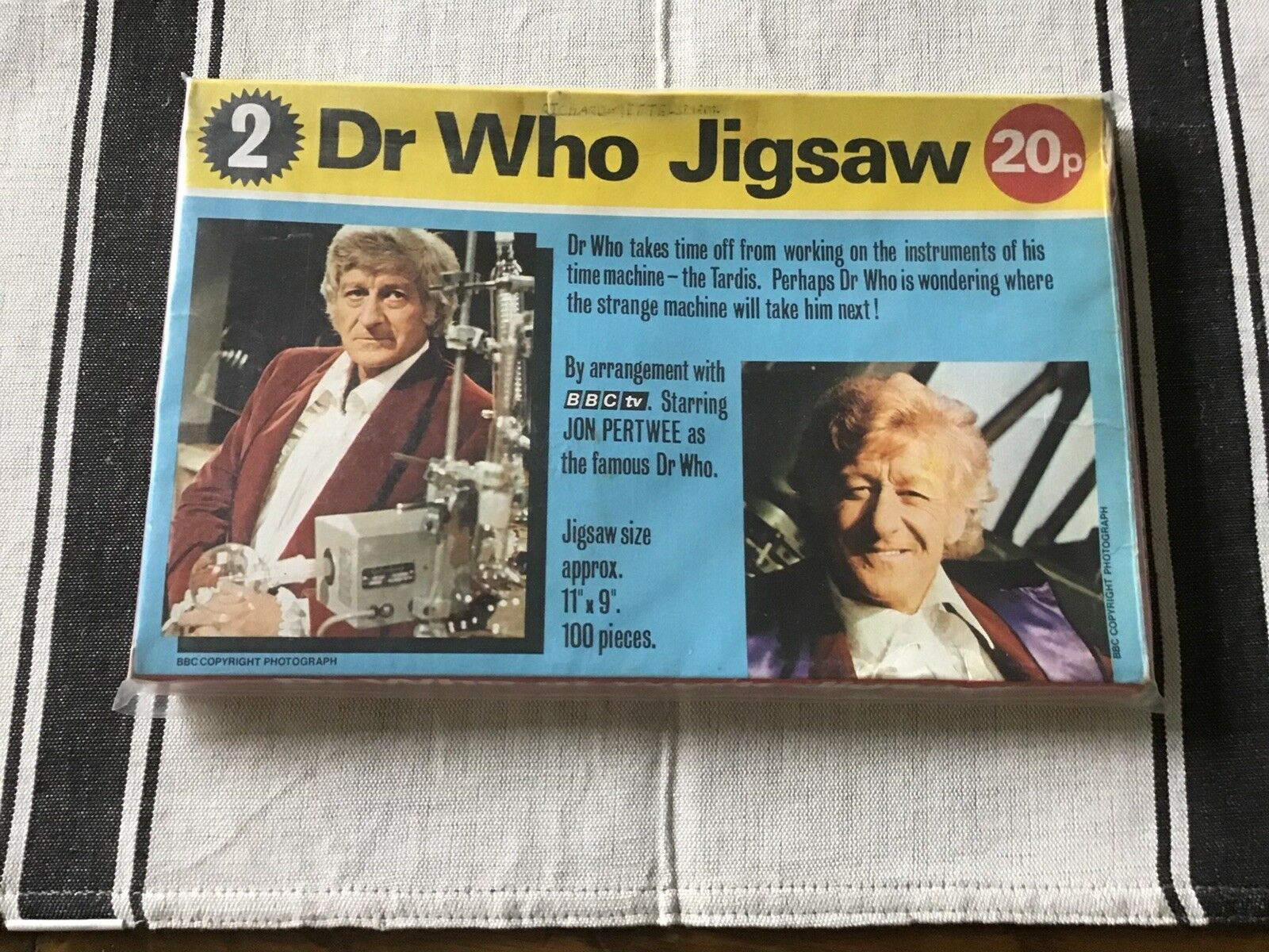 Doctor Who - 1972 Jon Pertwee Complete 100 piece Jigsaw Boxed Number 2