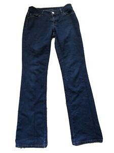 Banana-Republic-Size-28-X-34-Long-Curvy-Boot-Dark-Wash-Cotton-Stretch-Jeans