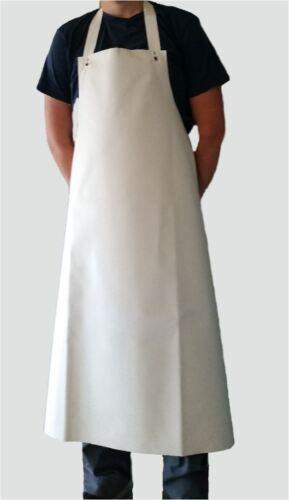 Metzgerschürze Gummischürze Fleischerschürze weiß 130 cm lang