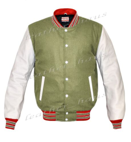 Genuine Leather Sleeve Letterman College Varsity Kid Wool Jackets WSL-RWS-WB-LE