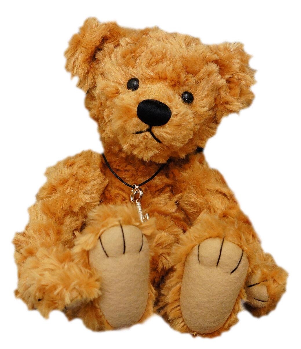 CLEMENS Simon Teddy Bear 25cm Dark gold Plush soft toy New