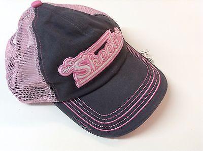 Pink NEW SKEETER LADIES DISTRESSED Hat. Black   Adjustable Gray