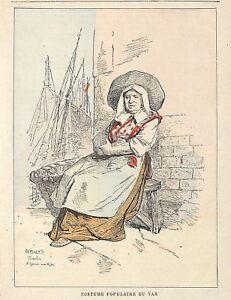 034-COSTUME-POPULAIRE-DU-VAR-034-GRAVURE-ENGRAVING-PAR-GERLIER-VERS-1890