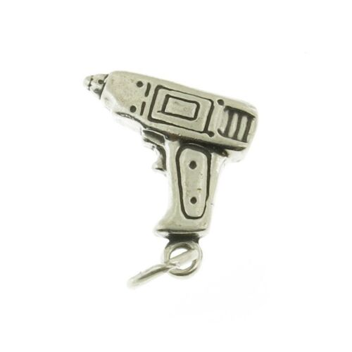 Argent Sterling 925 Electric Power Drill Charme Made in USA