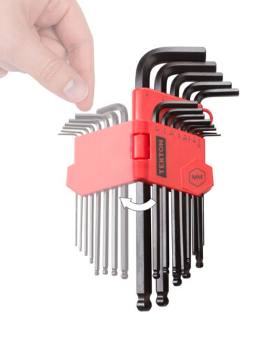 ALLEN BALL END LONG ARM HEX KEY WRENCH SET Inch//Metric with Star Key Set 35-pc