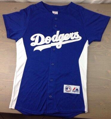 Los Angeles Dodgers Jersey Medium Mens Andre Ethier #16 Majestic SS Genuine Blue