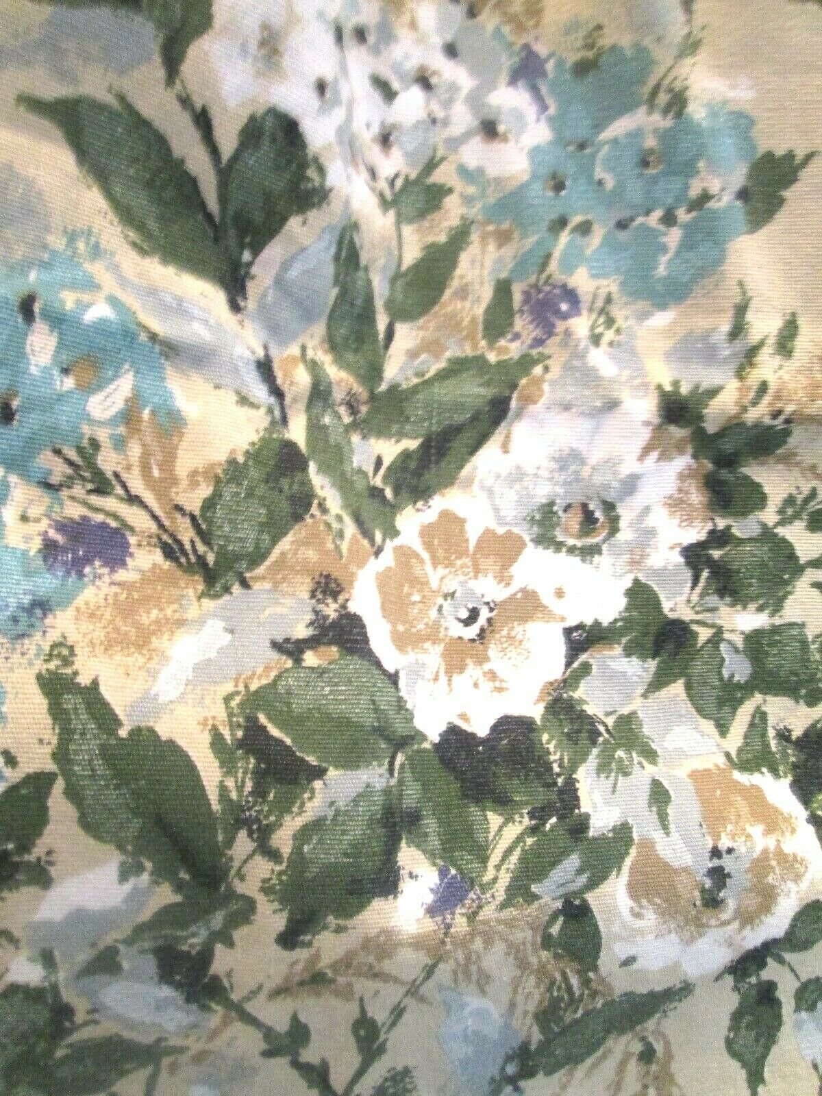 BEAUTIFUL VINTAGE FLORAL FRENCH CURTAINS 60s PAIR