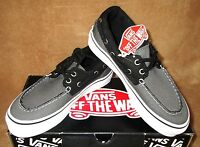Vans Zapato Del Barco Pewter/black Boat Shoes Youth 1.5, 2.5