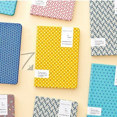 Geometric Planner Diary Journal Scheduler Agenda Undated Notebook Cute Organizer