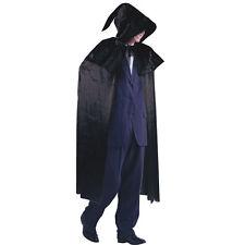 BLACK VELVET #wizard Magicians con cappuccio mantello Halloween Vampiro Costume