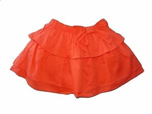 Skirts Clothing, Shoes & Accessories Nwt Girl's Gymboree Cute On The Coast Orange Layered Elastic Skirt ~ 3t Online Discount