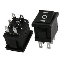 10 Pcs DPDT ON-OFF-ON Snap In Rocker Switch 6A/250V 10A/125V AC SY AU R3L1 B7Y8
