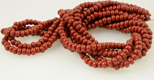 """Czech Glass Seed Beads Size 6//0 /"""" RUSTIC BROWN /"""" Strands"""
