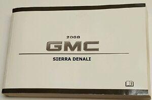 2008 gmc sierra denali owner s owners owner manual new 804a ebay rh ebay com owners manual 2008 gmc sierra 1500 amazon owners manual for 2008 gmc sierra 2500hd