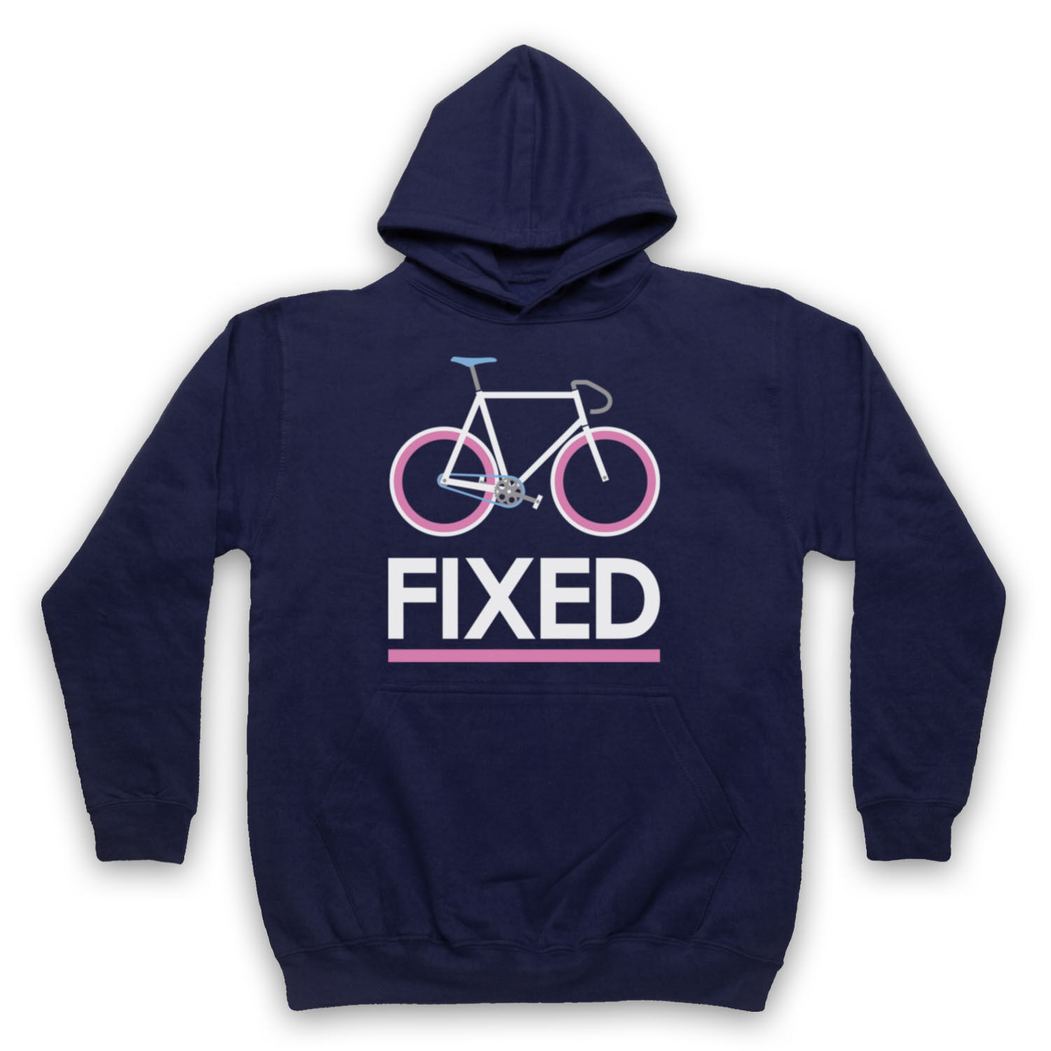 FIXED GEAR BICYCLE FIXIE RETRO STYLE BIKE RIDING CYCLE ADULTS KIDS HOODIE