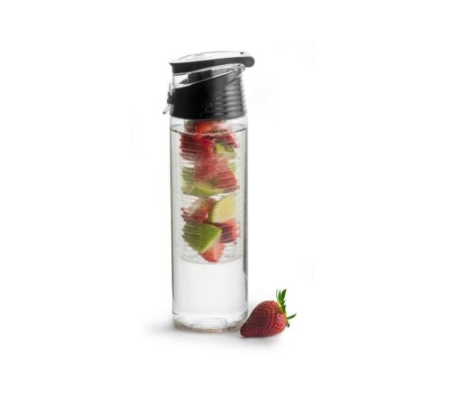 7 New SagaformFresh Water Bottle with Fruit Piston with carry handle in Black