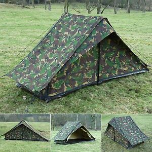 Image is loading Dutch-Army-Canvas-Tent-NEW-Woodland-Camouflage-One- & Dutch Army Canvas Tent - NEW - Woodland Camouflage One Man Camo ...