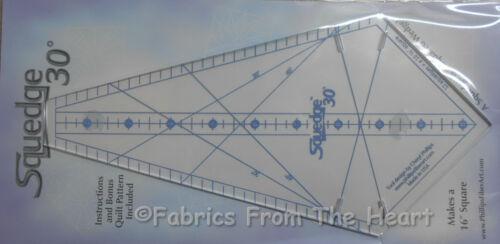 30 Degree Squedge Squared Wedges Acrylic Template Ruler Fabric Bonus Pattern