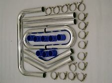 Burstflow Universal Ladeluftkühler Einbauset Kit Set X 2 Zoll 51 mm blau