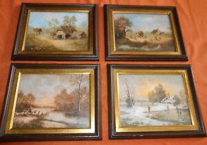 Die-vier-Jahreszeiten-4-Grafiken-Romatik-Fruehling-Sommer-Herbst-amp-Winter