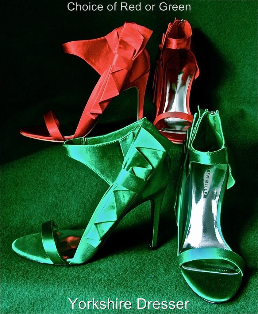 New New New KAREN MILLEN Extravagant ROT Satin BOW Evening Sandales Schuhes - Uk 6 / 39 58627d