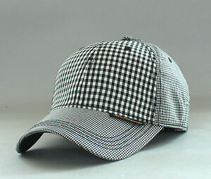 New-Genuine-Ben-Sherman-Men-039-s-Multi-Check-Baseball-Hat-Golf-Ball-Cap-Blk-Blazer
