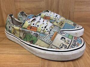 RARE-VANS-x-Peanuts-Cartoons-Men-039-s-Shoes-Size-10-Worn-Laced-OX-Authentic-Era
