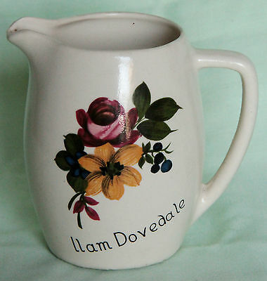 Pottery New Devon Pottery Durable In Use Obedient Souvenir Milk Jug From Ilam Dovedale