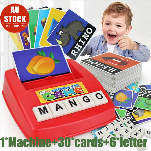 English Spelling Alphabet Letter Game Montessori Early Learning Educational Toy