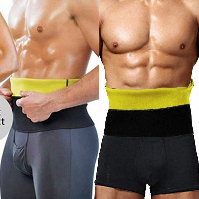 f7d566994a Men s Weight Loss Belly Belt Waist Corset Tummy Slimming Body Shaper Trainer  Gym 9 9 of 12 ...