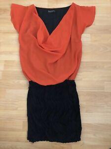 Rinascimento Etui-Kleid Stretch S Blockfarbe Schwarz/Rot ...