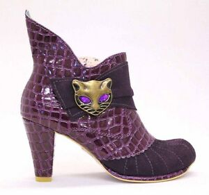 Image is loading NEW-IRREGULAR-CHOICE-MIAOW-PURPLE-GOLD-M-CAT-