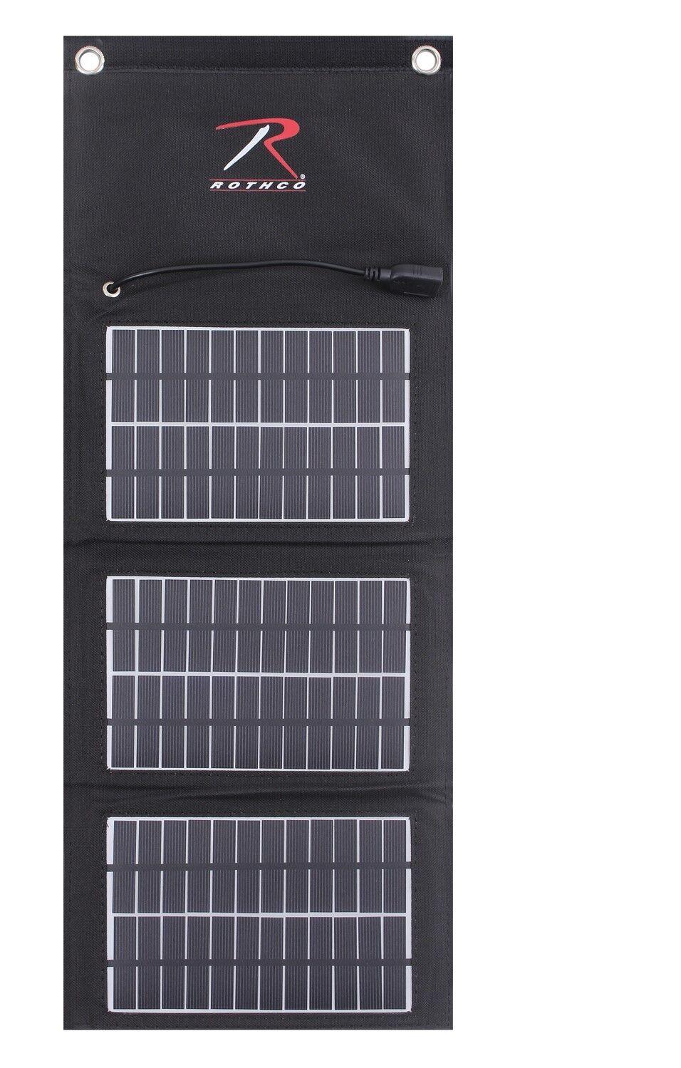 MOLLE Folding Solar USB Charger Camping SHTF Phone Rothco 2116