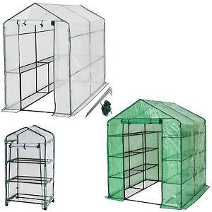 Invernadero de jardín con estante vivero casero plantas cultivos