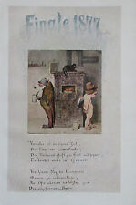 Aquarell JOH. FR. ENGEL - Gedicht J. F. VOGEL Originaldruck aus 1918 print
