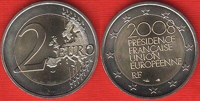 """2008 France 2 Euro Uncirculated UNC Coin /""""EU Presidency/"""""""