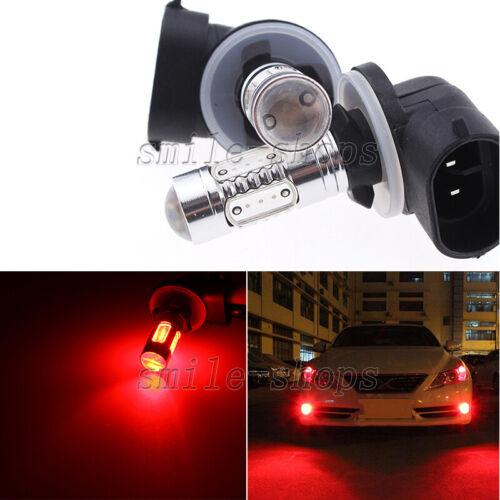 2pcs High Power 881 862 894 Red 7.5W COB LED Fog Lights Replace Bulbs