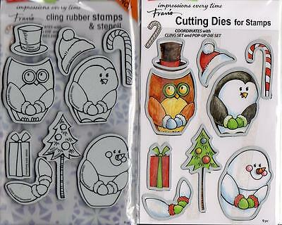 Stampendous CSD08 Cling Stamp /& Die Set-Cool Penguin Clear
