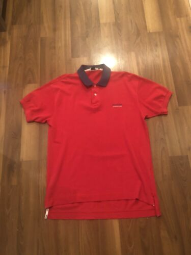 Vintage 1990s Nautica Competition Red Embroidered
