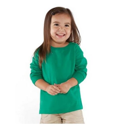 100/% Cotton Jersey Long Sleeve T Shirt Blanks Soft Toddler 2T 3T 4T 5//6T COLORS