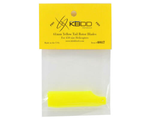 KBD4017 KBDD International T-REX 450 Pro 61mm Neon Tail Blades Yellow