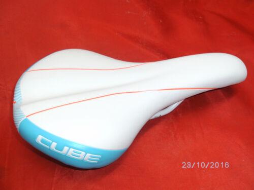 Fahrradsattel Velo WLS Cube MTB Trekkingbike white//aqua//neonred