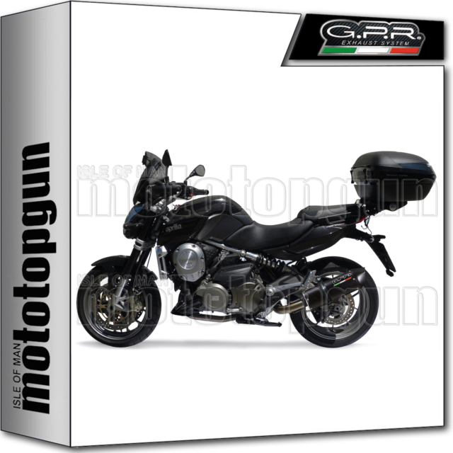 GPR MID FULL EXHAUST SYSTEM CAT FURORE BLACK APRILIA MANA 850 - GT 2007 07